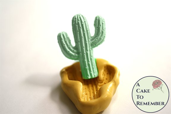Silicone cactus mold for desert cakes and crafting M5187