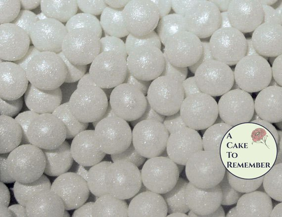 6mm fondant pearls for cake decorating- 100 fondant pearls