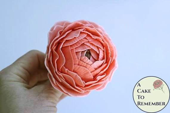 Stylized Gumpaste ranunculus for cake decorating, wedding cake toppers, sugar flowers
