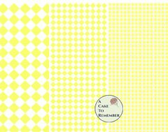 Digital download--Printable yellow diamonds wafer paper file for cake decorating or cupcake decorating