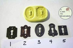 Lock plate mold for cake decorating, chocolate, hard candy, polymer clay, or resin. M099