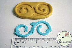 Silicone scroll mold to make an S shape for cake decorating or polymer clay  M04