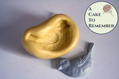 Silicone bird mold for fondant or gumpaste. Cake decorating bird mold or polymer clay bird mold.