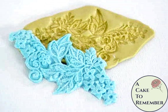 Silicone leaf and flowers lace Mold for cake decorating cupcake decorating, chocolate, polymer clay, resin, silicone mould, leaf lace mold M073