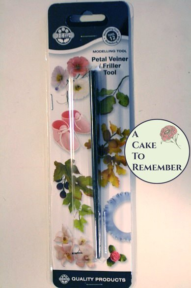 Jem veining tool for gumpaste flowers and cake decorating.
