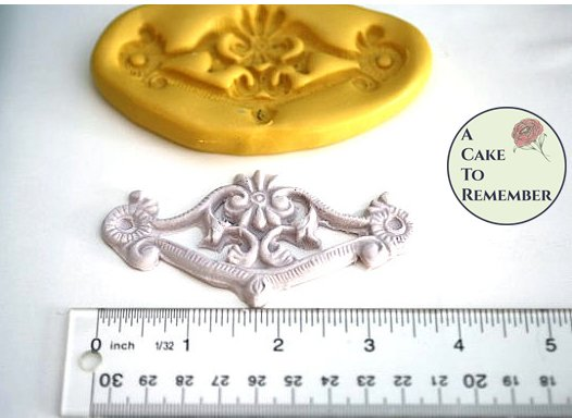 Swag mold for cake decorating, silicone swag mold