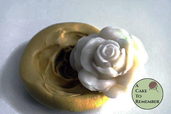 Silicone rose mold for large gumpaste roses. Cake decorating supplies, cupcake decorating, silicone mould, flower mold. M036