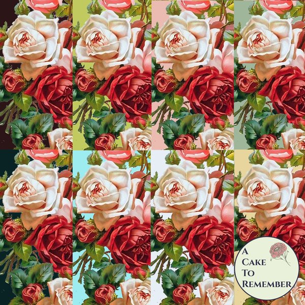 Digital download for lush vintage flowers printable
