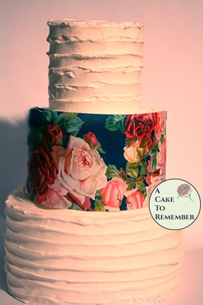 Lush roses printed wafer paper- 3 edible sheets for cake decorating