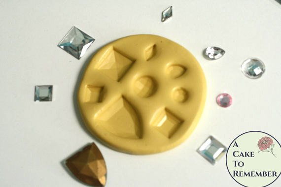 Multi Jewel mold for gumpaste jewels, cake decorating and cupcake decorating.