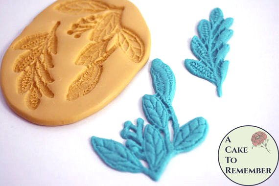 Leaf lace silicone mold for cake decorating M1070