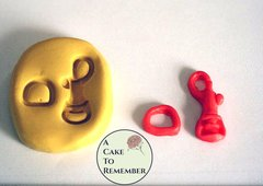 Purse clasp mold, hook and loop clasp mold for cake decorating or polymer clay  M06