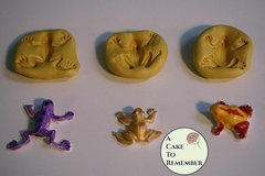 Small frogs mold for cake decorating, cupcakes, cake pops or polymer clay