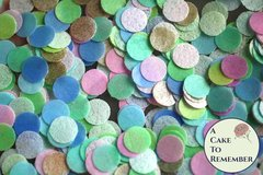 "320 Wafer paper dots for mermaid cookies, 1/2"" dots. Dots to make fish scales and mermaid scales for mermaid tails and under the sea parties"