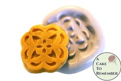 Silicone Button or Medallion flower Mold for cake decorating, chocolate, hard candy, polymer clay, resin. M18