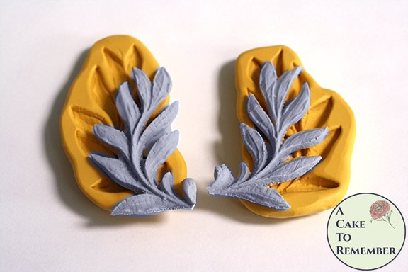Set of two Laurel leaf flexible silicone molds M5170