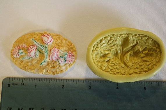 Ornate floral brooch mold, silicone brooch mold for cake decorating