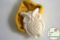Silicone owl mold for cakes or for melt and pour soap making M5078