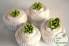 "24 tiny pointy edible succulents for mini cupcakes, 1/2""- 3/4"" wide."