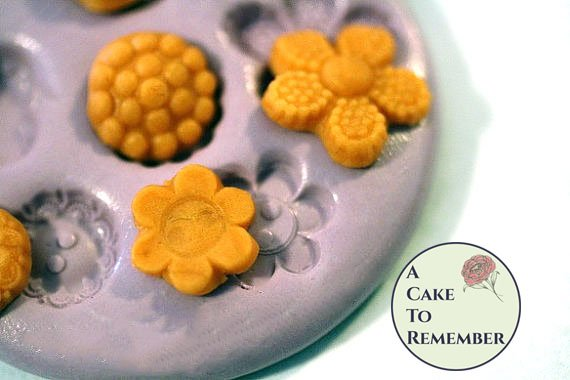 Silicone button or medallion Mold for cake decorating, chocolate, hard candy, polymer clay, resin. M32