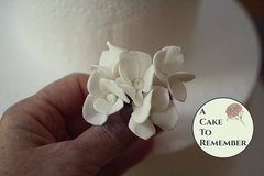 Wired gumpaste sugar flower hydrangeas-- 6 for cake decorating- Sugar flowers for wedding cakes