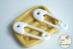 "2.5"" diaper pin silicone mold M5244"