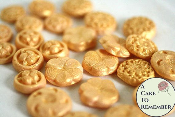 40 fondant buttons for cake decorating