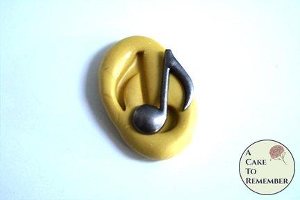 Mini mold music note silicone mold M1019