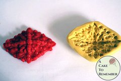 Jeweled diamond shaped medallion mold for cake decorating, cupcake decorating, polymer clay or resin. silicone mould. DIY wedding brooch