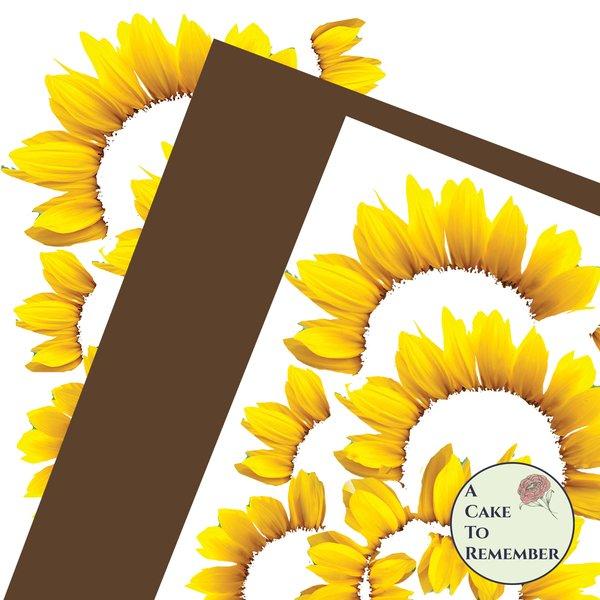 DIY wafer paper sunflower kit for cake toppers.