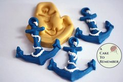 Silicone anchor mold for fondant and cake decorating, polymer clay. Beach cakes, nautical cakes, cowboy cakes and western-themed cakes  M5057