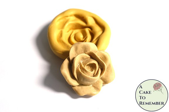 2 inch silicone rose mold for cake decorating or polymer clay. M5167