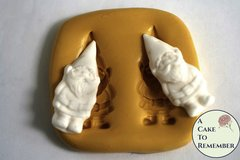 Silicone gnome mold for cake pops or cupcakes. Garden gnome mold for polymer clay or resin.