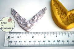 Corner Scrollwork Mold, swag mold for cake decorating
