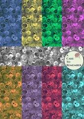 Digital download-sequins pattern for printed wafer paper