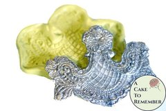 SLIGHTLY IMPERFECT-- Woven lace swag mold for cake decorating, chocolate mold, polymer clay mold, resin, silicone lace mold, silicone mould, cake lace mold M076