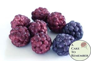12 Gumpaste raspberries or blackberries for cake decorating or cupcake decorating