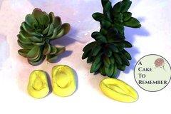 Silicone thinner succulent mold or veiner for gumpaste succulents with longer petals. Cake decorating petal veiner. M080
