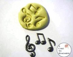 Musical notes silicone mold for cake decorating M1019
