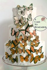 30 orange ombre wafer paper butterflies for cake decorating and cupcake decorating. Edible butterflies for wedding cake toppers.
