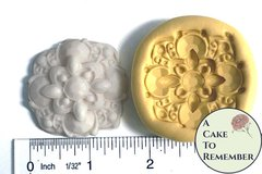 Art deco brooch mold for cake decorating, silicone food grade mold
