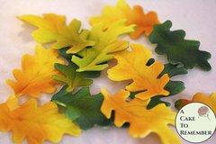 Gumpaste oak leaves for cake decorating