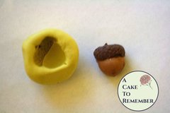 Silicone one-sided Acorn Mold for cake decorating, chocolate, hard candy, polymer clay, resin mold, cake pops M083