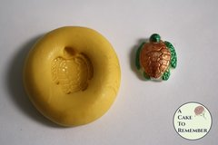 Tiny turtle mold, turtle mold for cupcake toppers or cake pops. Gumpaste or fondant mold, polymer clay or resin mold. M5132