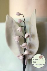 Single Stem Gumpaste Lily of the Valley for Cake Decorating, sugar flowers.