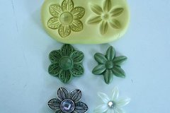 Double Daisy mold for cake decorating, chocolate, hard candy, polymer clay, resin, wax, soap, silicone mould