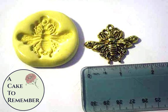 Bee mold for cake decorating, cupcakes or polymer clay
