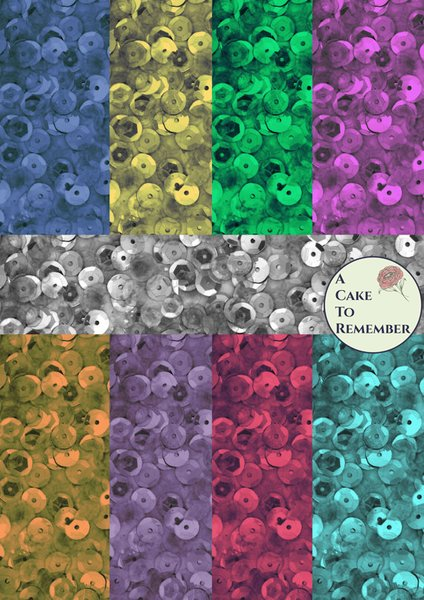 Digital download-sequins pattern for printed wafer paper
