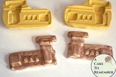 Set of two briefcase lock silicone molds for briefcase cakes or suitcase cakes. Silicone lock mould for cake decorating. M5062