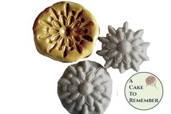 "Jeweled medallion mold, 2"" wide, for cake decorating M1008"